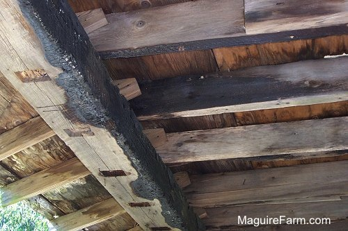 Burned Barn Beams